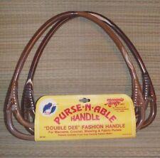 Purse-n-Able Double Dee handles to make handbag macrame crochet cloth knit brown