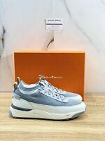 Santoni Sneaker Uomo New Model Innova Bianco Grey Casual Sneaker 43