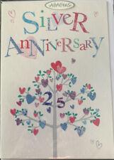Silver Wedding Anniversary Card 25 Years