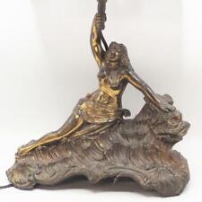 Sea Serpent Nude Lady Lamp w Shade Vintage