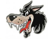 "(F5) CARTOON WOLF 4"" x 4"" iron on patch (3899) Biker Patches vest"