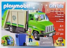 Playmobil #5679 City Life Green Recycling Truck  Ages 4+ 27pc Vehicle NEW