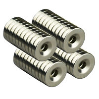 5/10/20pcs N50 20x4mm Strong Round Neodymium Magnets Countersunk Ring 5mm Hole