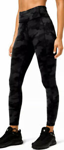 "Lululemon Women's Invigorate 25"" Tight LW5CX1S ICMG Black Camo Print Size 8"