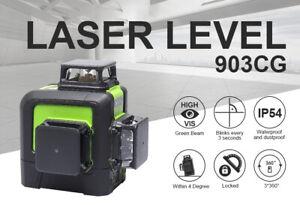 Huepar 12 Lines 3D Cross Line  Self-Leveling 360 Degree USB Charging Laser Level