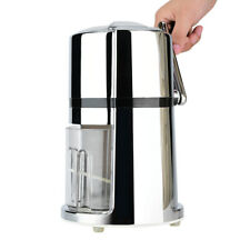 Snow Cone Crusher Portable Hand Crank Manual Ice Crusher Round Household Shaver