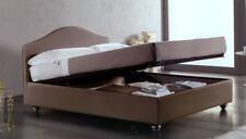 LETTO MATRIMONIALE CASSIOPEA CON RETE 180 x 200 CONTENITORE IN ECOPELLE/TESSUTO