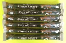 Lot of 7 Red Cyalume Tactical Military Glow Sticks Emergency Survival Prepper