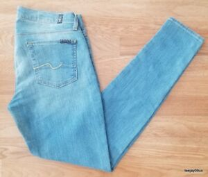 ~MINT Cond!~ Women's 7 For All Mankind Gwenevere Stretch Jeans Size 29