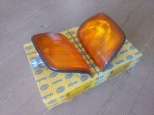 MERCEDES W124 LEFT&RIGHT SIDE TURN INDICATOR, COMPLETE, COLOR: AMBER, HELLA
