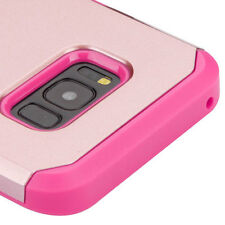For Samsung Galaxy S8+ Plus - HYBRID ARMOR HIGH IMPACT PHONE CASE ROSE GOLD PINK