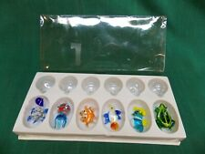 New listing Lot A. 6 Ganz aquarium floating glass floaters. Fish seahorse turtle frog crab