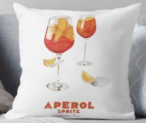 Aperol Quality Cushion with Insert, Aperol Cushion, Velvet Cushion