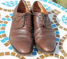Antonio Maurizi Wingtip Oxford Cognac Brown Dress Shoes EU 42 US 9M Italy Made