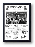 FULLY SIGNED ENGLAND 1966 WORLD CUP FINAL BOBBY MOORE CHARLTON HURST BALL