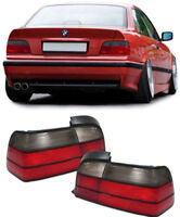 SMOKED & RED REAR TAIL LIGHTS FOR BMW E36 3 SERIES COUPE & CONVERTIBLE CABRIO