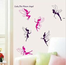 Magia delle fate Angelo Wall Sticker Rosa Viola Bambini Decalcomanie Murale Arte Home Decor