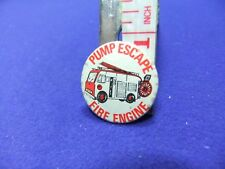 vtg tin badge fire engine pump escape toy 1960s advert advertising dinky corgi