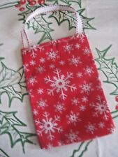 A HAND MADE COTTON RED SNOWFLAKE XMAS GIFT BAG. XMAS TREE DECORATION?