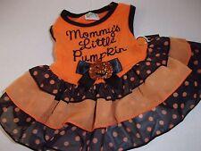 MOMMY'S LITTLE PUMPKIN Dog Dress Costume Halloween new pet Petco XXS cat xxsmall
