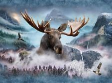 Hoffman Call of the Wild Digital Q4428 449 Waterfall MOOSE Digital Panel