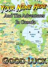 Canada Travels Good Luck Card  A5 Personalised Greeting Card PIDZ113