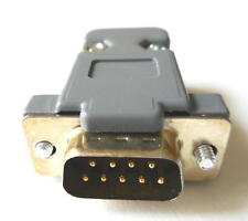 DB9 Male Solder Connector Kit - Solder Connector, Plastic Hood & All Hardware