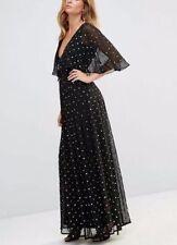 Vestiti da donna a manica corta nera lunghezza totale