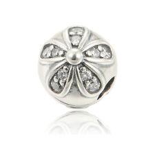 Authentic Pandora #791493CZ Dazzling Daisies Clip Bead Charm Flower Style