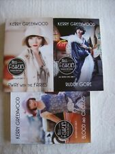 Kerry Greenwood PHRYNE x3 Blood&Circuses #6 Ruddy Gore #7 Away With Fairies #11