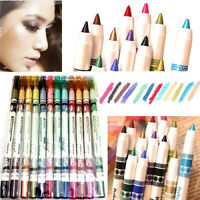 Fashion 12 Pcs/set Cosmetic Eye Shadow Lip Liner Eyeliner Pencil Pen Makeup Hot