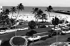Along the Beach, Miami, Florida - 1950s - Historic Photo Print