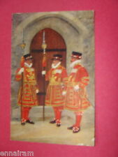 Beefeaters Yeoman Warders  State Dress Tower of London vintage unused  postcard