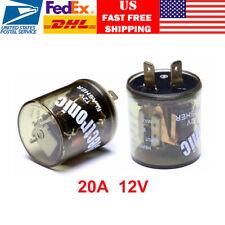 1x 12V-20A Electronic Turn Signal Flasher Blinker Relay LED 2 Pin Circular USA