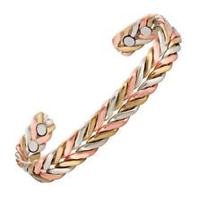 Bracelet magnétique cuivre et aimants -  Palmier