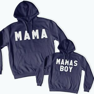Mama & Mamas Boy Twinning Matching Hoodies Mother's Day Gift Mother Son 113