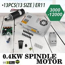 CNC 400W Brushless Spindle Motor ER11 & Mach3 PWM controller & Mount Engraving