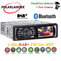 "3.0 ""HD 1 Din autoradio stéréo DAB + FM AUX Bluetooth In-Dash MP5 Player +Caméra"