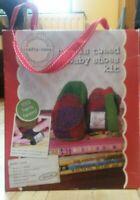 CRAFTY NANNA Harris Tweed Baby Shoes Kit Sealed New