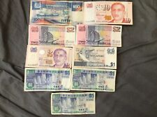 More details for collection of singapore banknotes $70 dollars in total $1-$2-$10-$50 no reserve!