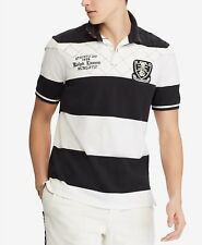 Polo Ralph Lauren Men Classic Rugby Stripe Embroidered Patch Cotton Polo NWT M