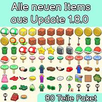 Super Mario Update 1.8.0 Paket | 80 Teile | Animal Crossing New Horizons