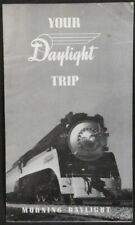 RAILROAD BROCHURE SOUTHERN PACIFIC YOUR DAYLIGHT TRIP 1940