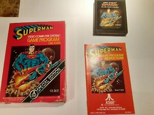 Atari 2600 Superman CIB TESTED WORKING Cart - Manual - Box