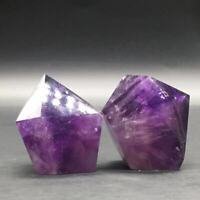 Precious Natural Amethyst Quartz Crystal Wand Point Cure Stone Healing 1Pc