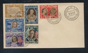 San  Marino    Roosevelt  stamps  on  cover