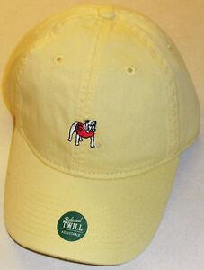 Georgia Bulldogs University Rare Yellow Color Ajustable Strapback hat Ncaa New