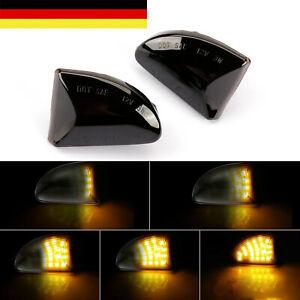Paar LED Dynamischer Seitenblinker Blinker Smoke Schwarz Smart 451 for two SB22