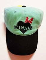 Disney Minnie Mouse Mint Green Adjustable Baseball Cap Hat NEW *FAST SHIPPING*