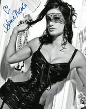 Amie Nicole Signed Sexy Authentic Autographed 11x14 B/W Photo JSA #S89222